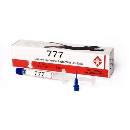 777 Calcium Hydroxide Paste With Iodoform, шприц 3.5г, средство для пломбирования каналов, Dentstal