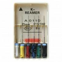 K-Reamer (К-Ример), 6 шт, 25мм, ручные файлы, Dentsply
